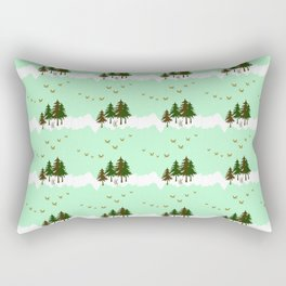 Mint Forest Rectangular Pillow