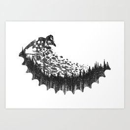 Forest Rider MTB Art Print