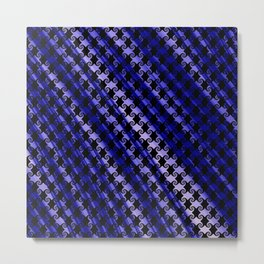 Blue Swirly Pattern with Creases Metal Print