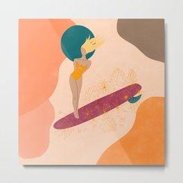 Surfer Girl / Beach Girl/ That summer feeling  Metal Print