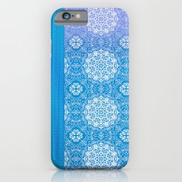 Lacey Mandalas Denim and Blue Overdye iPhone Case