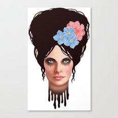 Goth Girl Tears Canvas Print