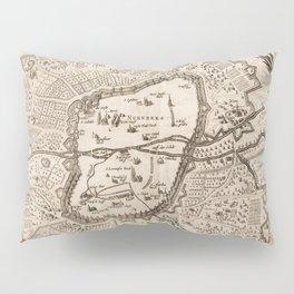 Vintage Map of Nuremberg Germany (1642) Pillow Sham