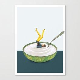 Yoga in my yogurt Canvas Print