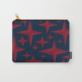 Starstuff, a field of red stars over a deep blue background Carry-All Pouch