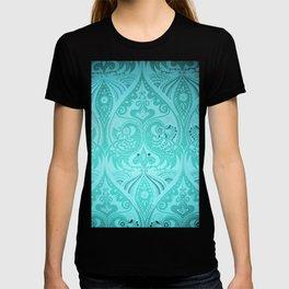 Ornamental Lovebirds Decorative Teal T-shirt
