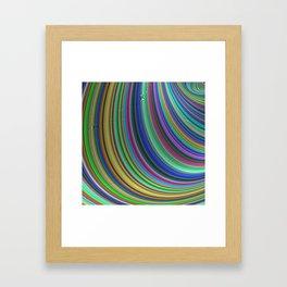 Striped fantasy Framed Art Print