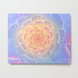 Romantic violet and yellow flower Metal Print