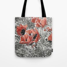 Poppy - blowing in the wind #02 Tote Bag