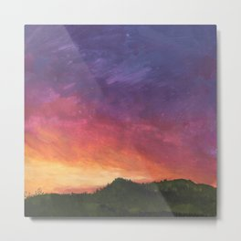 Sunset Painting Metal Print