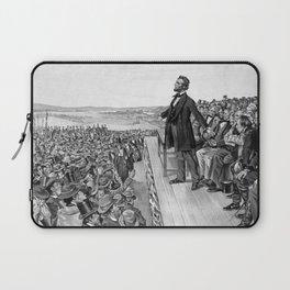 President Lincoln Delivering The Gettysburg Address Laptop Sleeve