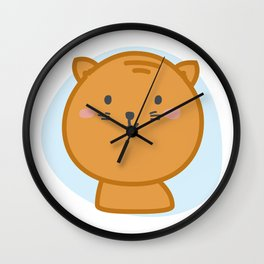 moew *i can customize your cat Wall Clock