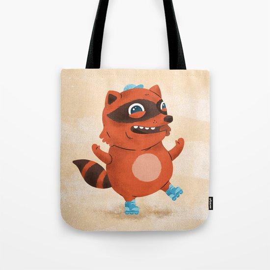 Rollerblade Raccoon Tote Bag