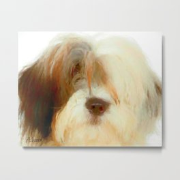 Old English Sheep Dog Art Print Metal Print