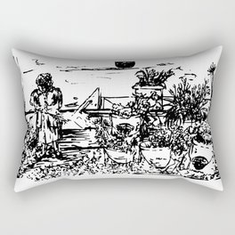 La Florista Rectangular Pillow