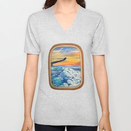 Above The Clouds Unisex V-Neck