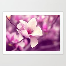 Lonely Flower - Radiant Orchid Art Print