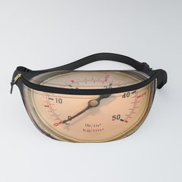 measurement - vintage industrial pressure meter Fanny Pack