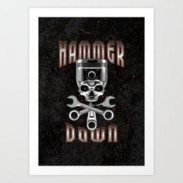 Hammer Down Art Print