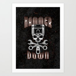 Hammer Down Art Print