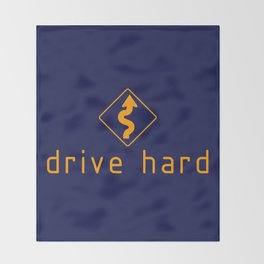 Drive Hard v2 HQvector Throw Blanket