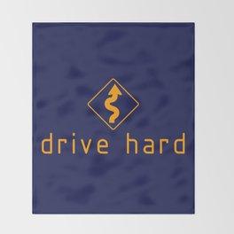 Drive Hard v2 HQvector Throw Blanket