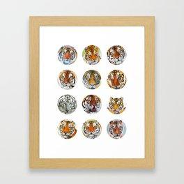 Tiger Sticker Pack 1 Framed Art Print