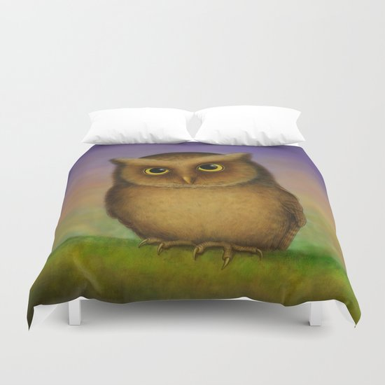 Mountain Scops Owl Duvet Cover
