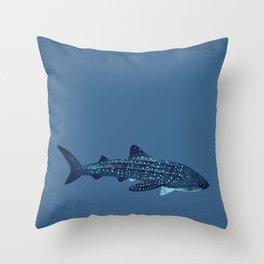 "FINconceivable Still ""Whale Shark"" Throw Pillow"