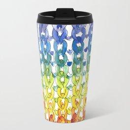 Stockinette Stitch: Rainbow Travel Mug