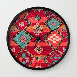18 - Traditional Colored Epic Anthique Bohemian Moroccan Artwork Wall Clock