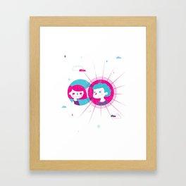 eclipse of love Framed Art Print