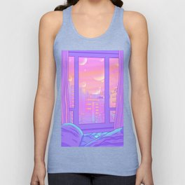 Shinjuku Summer View Unisex Tank Top