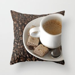 Expresso coffee Throw Pillow