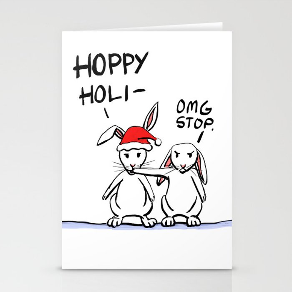 Hoppy Holidays Stationery Cards