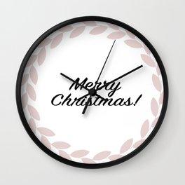 Merry Christmas! - Holiday Illustration Wall Clock