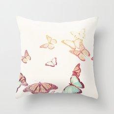 Vintage Butterflies Throw Pillow