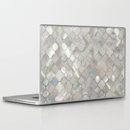 Quatrefoil Moroccan Pattern Mother of Pearl Laptop & iPad Skin