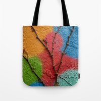 polka dots Tote Bags featuring Polka Dots by Shy Photog