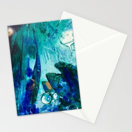 Bright Ocean Spaces, Tiny World Collection Stationery Cards