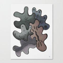 Relaxing Ornamental Spirits. Meditative iFi Art. Stress and Pain Free with MYT3H. Grey. Deep. Dark. Canvas Print