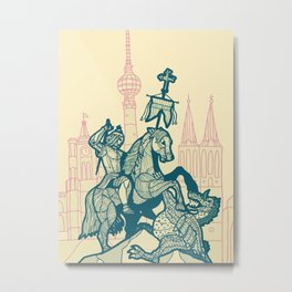 Berlin-Dragonslayer Metal Print