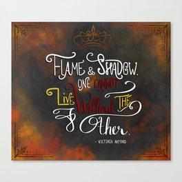 Flame & Shadow Canvas Print