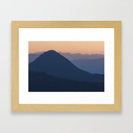 Silhouettes at Sunset, No. 2 Framed Art Print