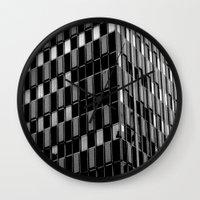 dallas Wall Clocks featuring Building8 Dallas by SarahGW