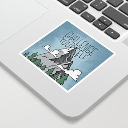 Challenge Yourself Sticker