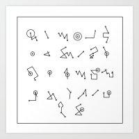 alphabet Art Prints featuring ALPHABET  by Mansken