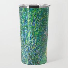 Gustav Klimt - Allee im Park von Schloss Kammer (new editing) Travel Mug
