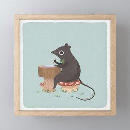 small mouse journals Framed Mini Art Print