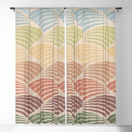 Tuscan Landscape Sheer Curtain